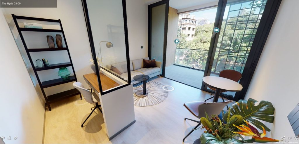 3D Virtual Tour of The Hyde 1 Bedroom Showflat - Type A2