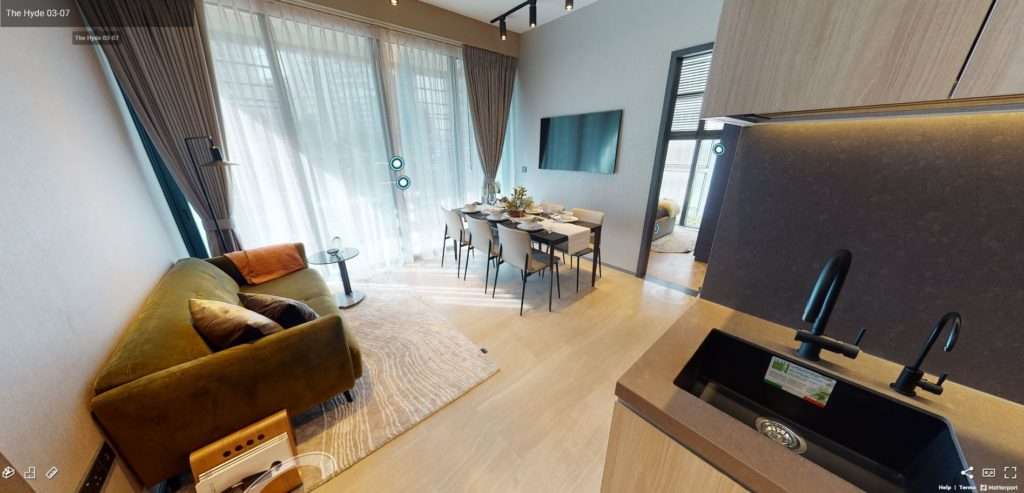 3D Virtual Tour of The Hyde Showflat 2 Bedroom - Type B2
