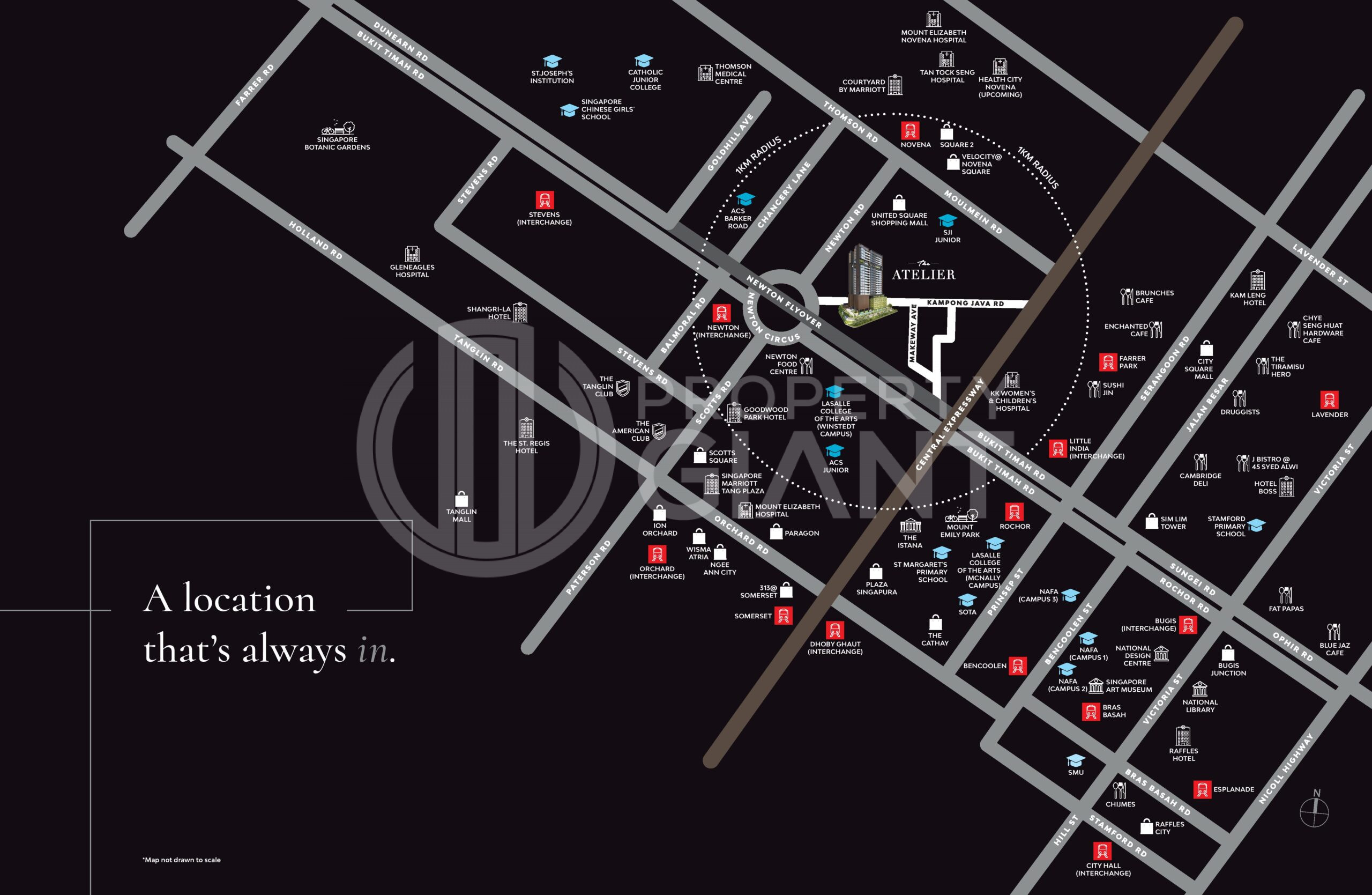 The Atelier Location Map