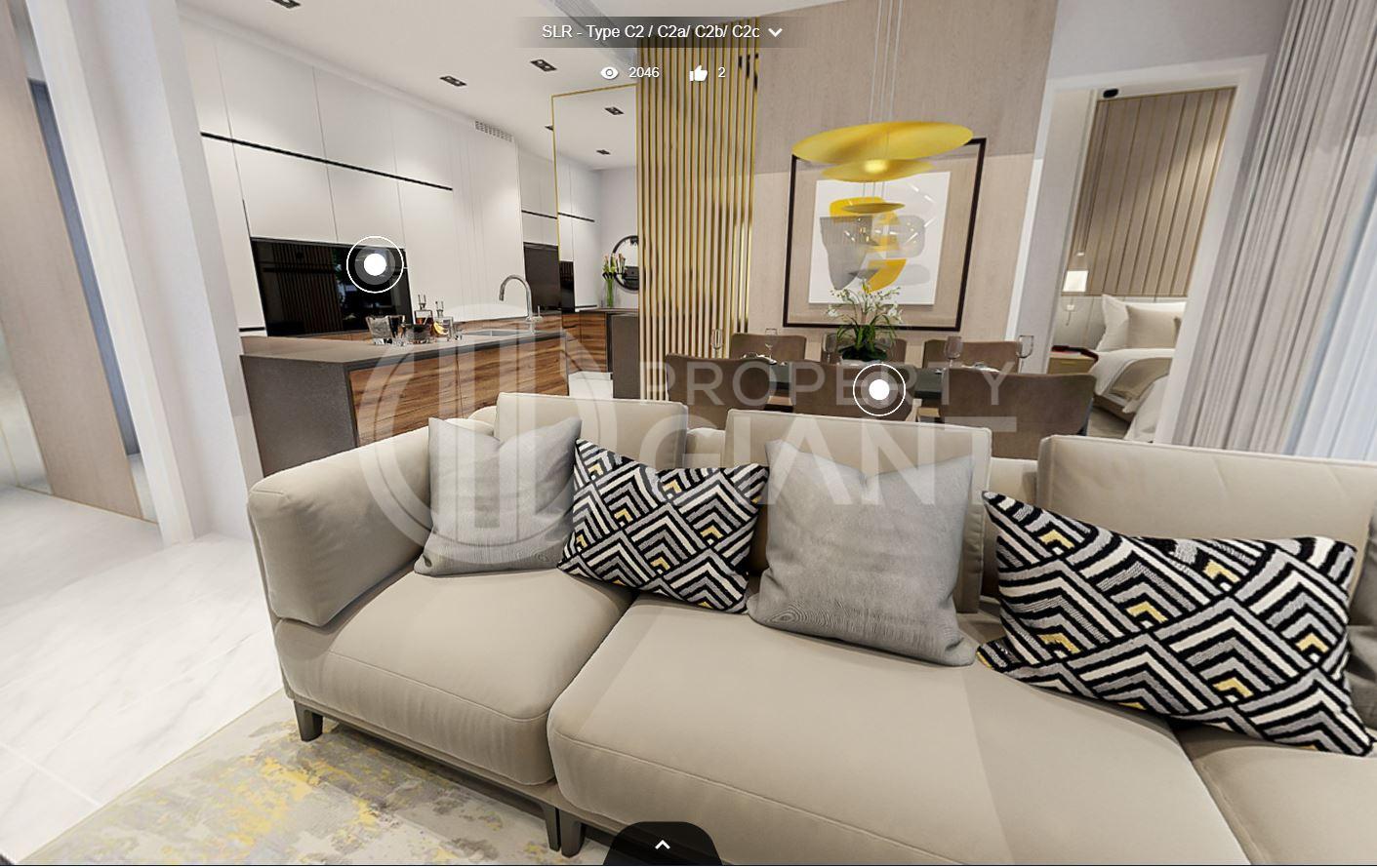 3D Virtual Tour of Sloane Residences 3 Bedroom Unit, Type C2/C2a/C2b/C2c