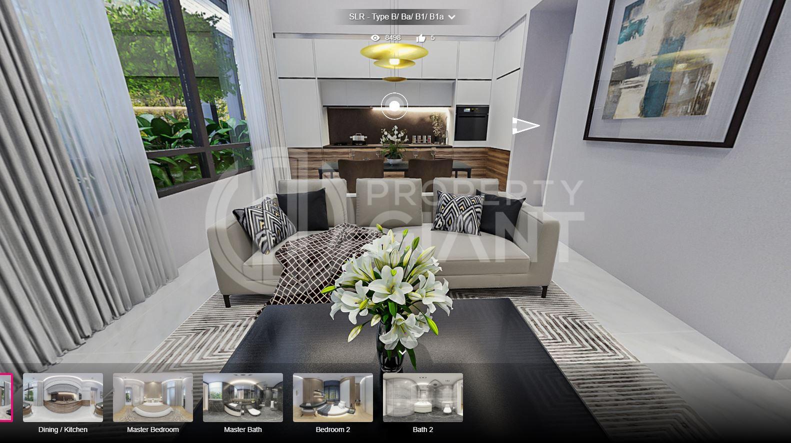 3D Virtual Tour of Sloane Residences 2 Bedroom Unit, Type B/Ba/B1/B1a