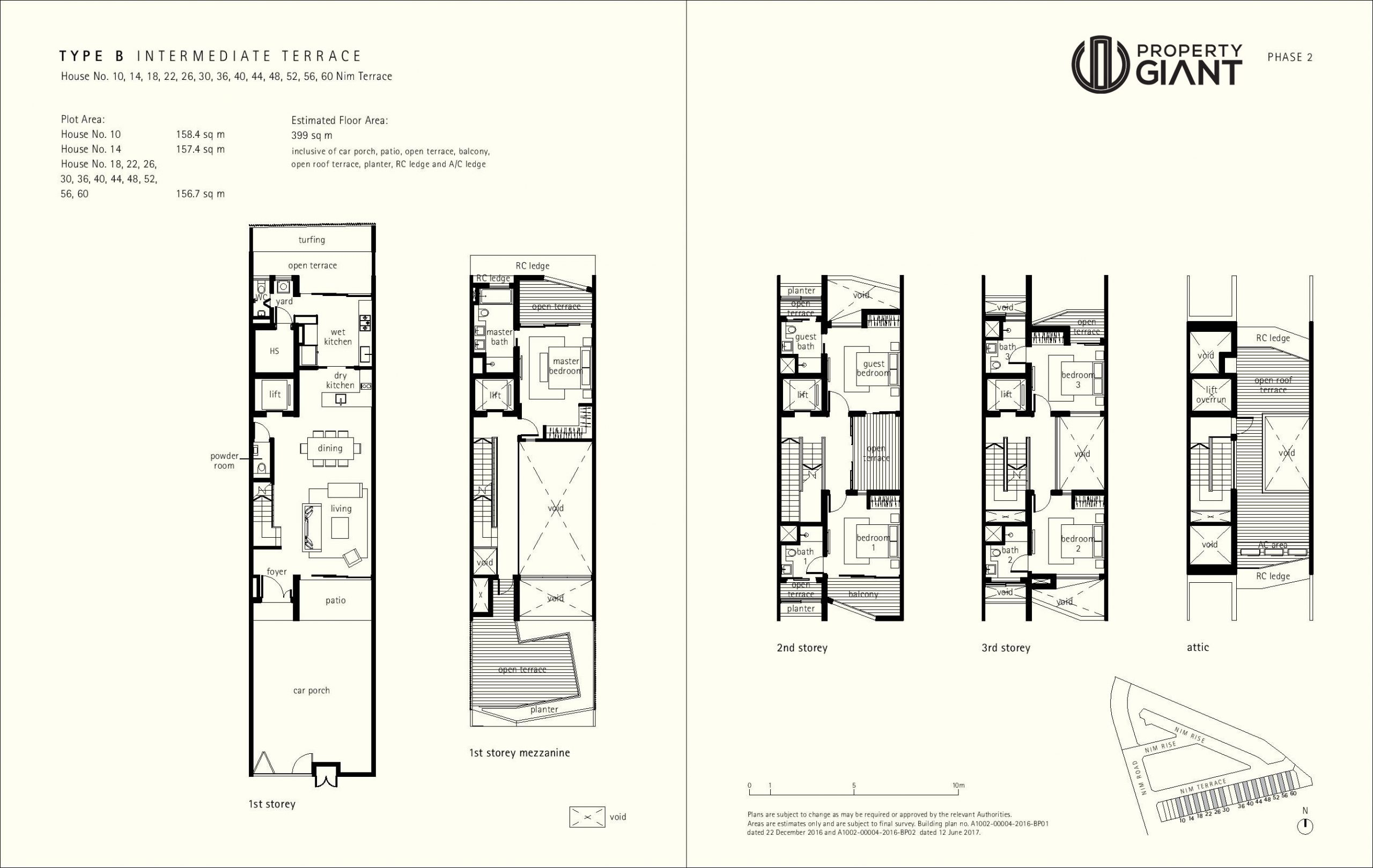 Type B - No. 10, 14, 18, 22, 26, 30, 36, 40, 44, 48, 52, 56, 60 Nim Terrace