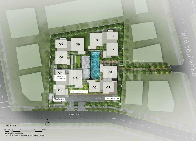 10 Evelyn Site Plan